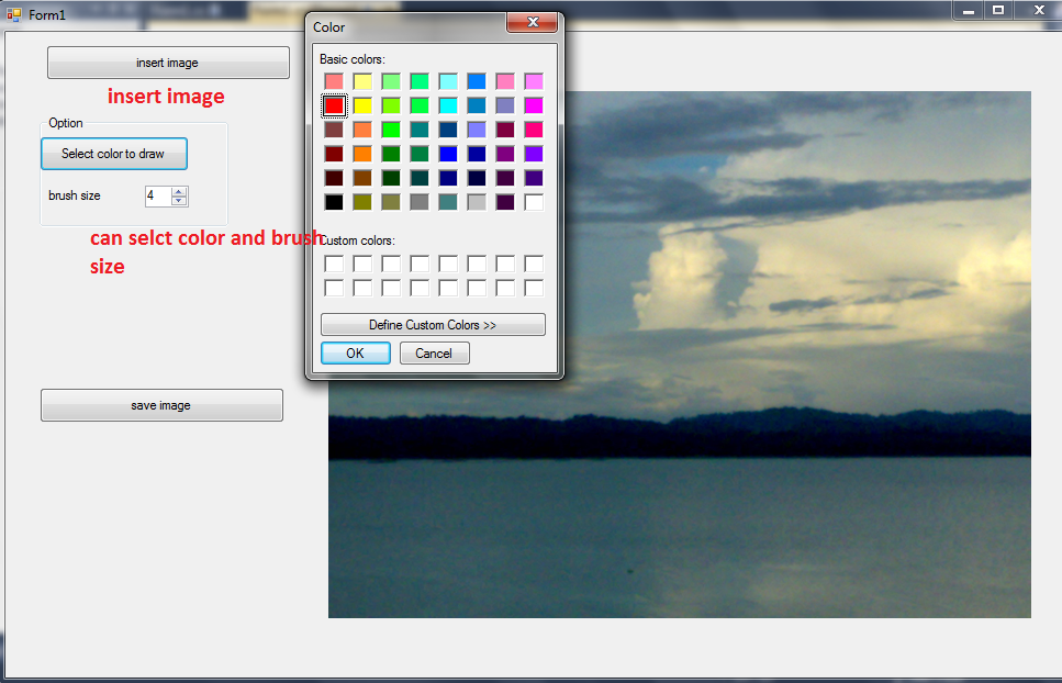 C Tips How To Draw On A Picturebox Image Using Mouse By C